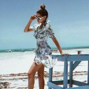 Zara Summer Wrap Dress NWOT